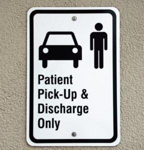 Patient Parking Sign
