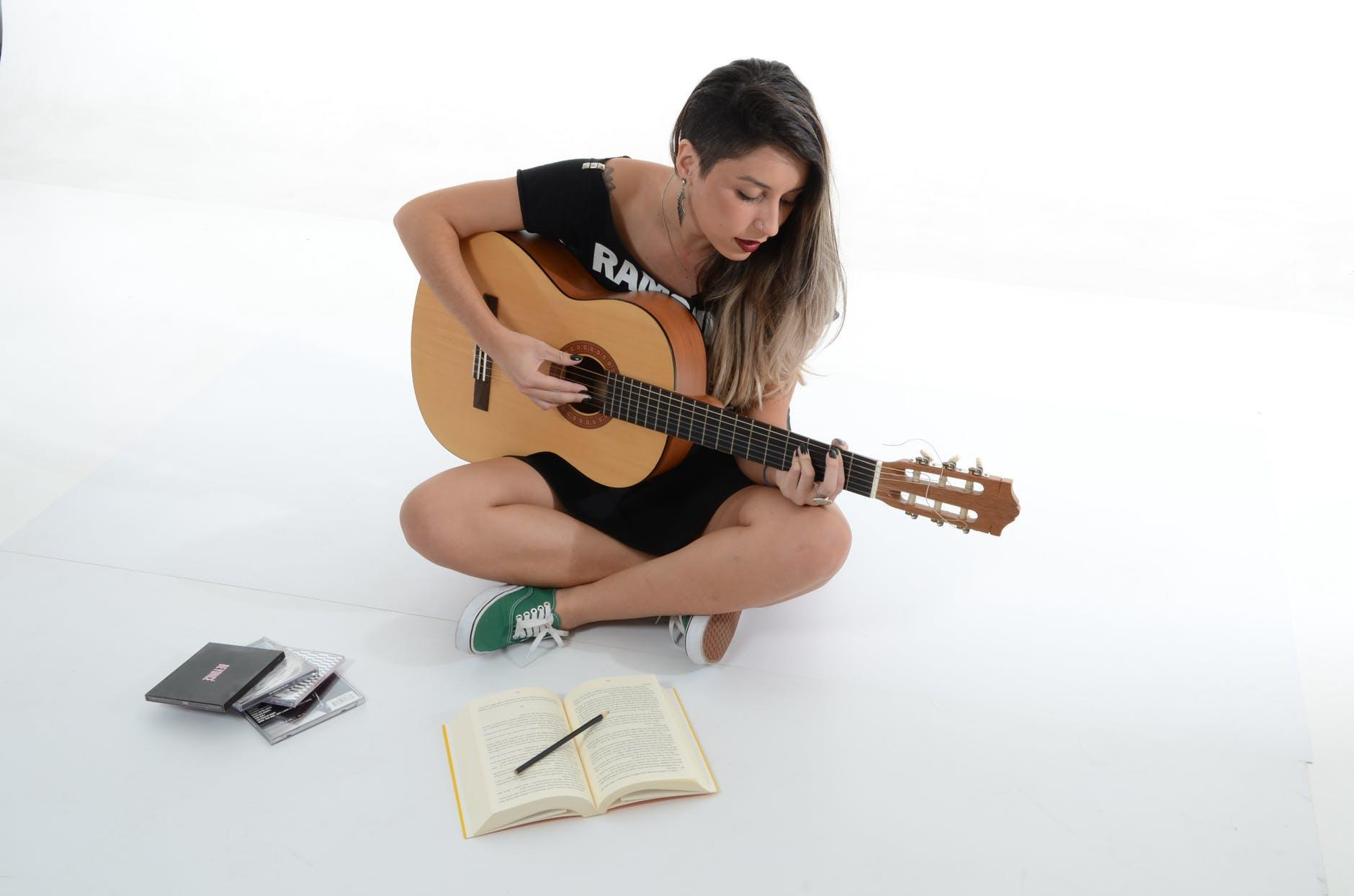 musician practicing